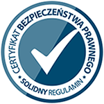 Świadectwo zgodności - solidnyregulamin.pl