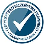 Œwiadectwo zgodnoœci - solidnyregulamin.pl